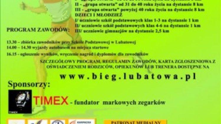 IX Bieg szlakiem Partyzantów z Lubatowej