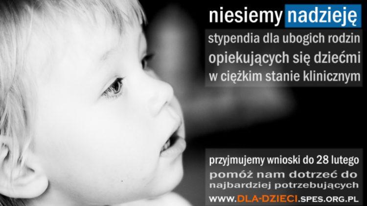 Stypendia dla rodzin dzieci w ciężkim stanie klinicznym