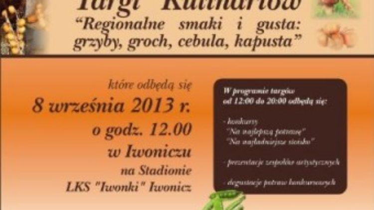 """Targi Kulinariów """"Regionalne smaki i gusta: grzyby, groch, cebula, kapusta"""""""