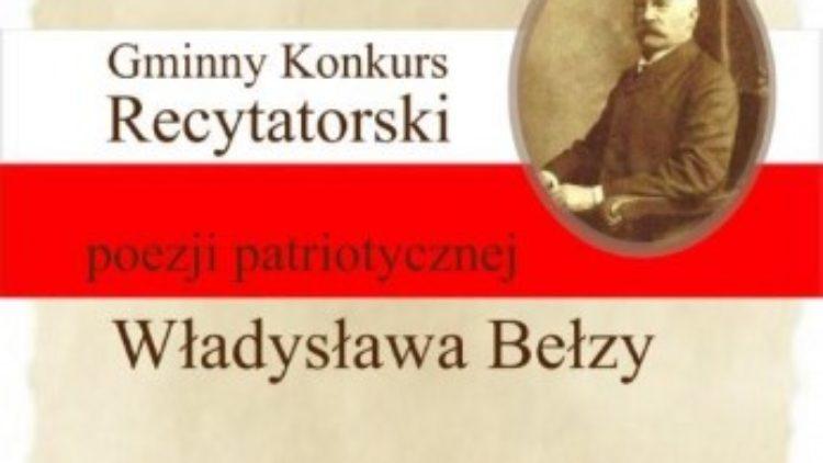 Gminny Konkurs Recytatorski Poezji Patriotycznej Władysława  Bełzy
