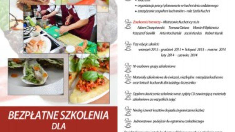 """Rekrutacja do II edycji projektu """"Mistrzowie Kuchni"""""""