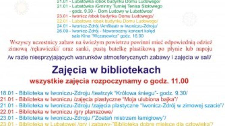 Ferie z GOK-iem i Bibliotekami