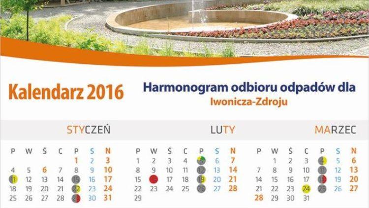 Nowe harmonogramy odbioru odpadów w Gminie Iwonicz-Zdrój