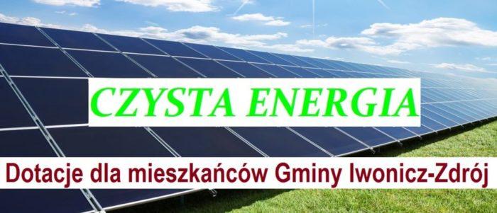 Czysta Energia – dotacje dla mieszkańców Gminy Iwonicz-Zdrój
