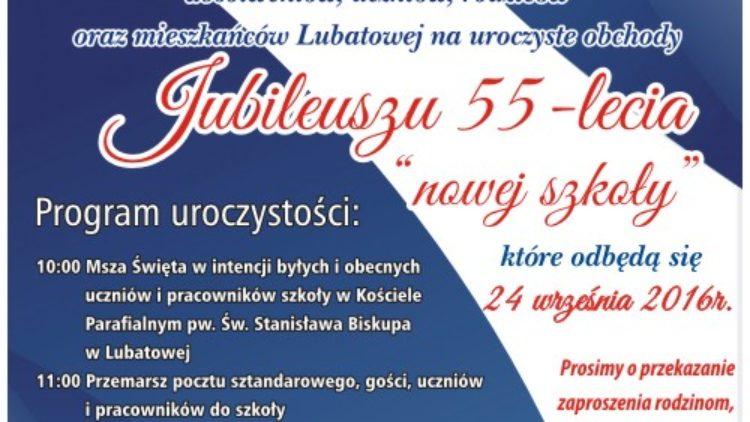 Obchody Jubileuszu 55-lecia Szkoły Podstawowej w Lubatowej