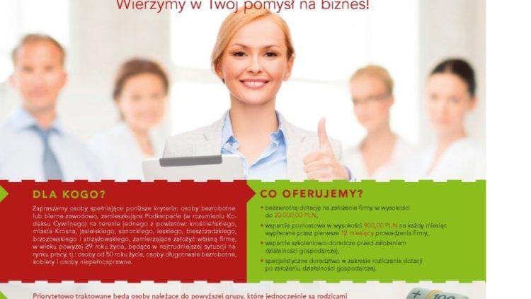 """Projekt """"WSPARCIE W STARCIE"""" – dotacje na rozpoczęcie działalności gospodarczej"""