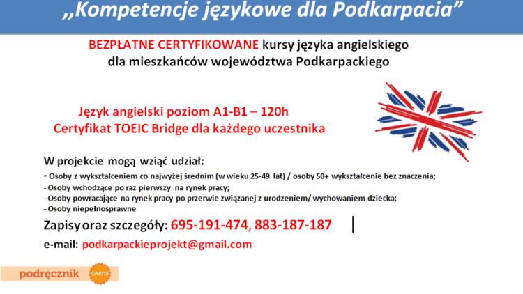 Kurs języka angielskiego (120h, poziom A1-B1)
