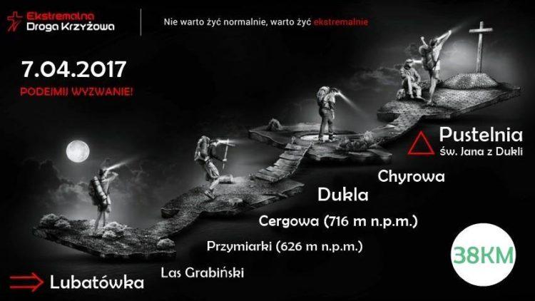 Ekstremalna droga krzyżowa 2017 – Lubatówka
