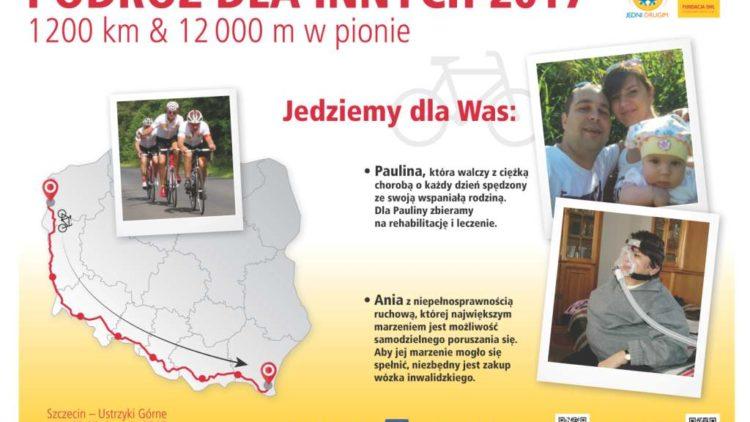 Rowerowa akcja charytatywna – ze Szczecina, przez Brody, Szklarską Porębę, Złoty Stok, Ustroń, Szczawnicę, Iwonicz Zdrój, aż do Ustrzyk Górnychv