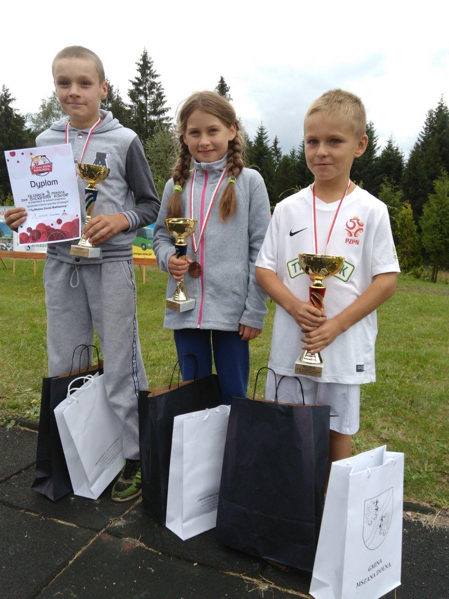 Potrójne podium młodych zawodników z Lubatowej!