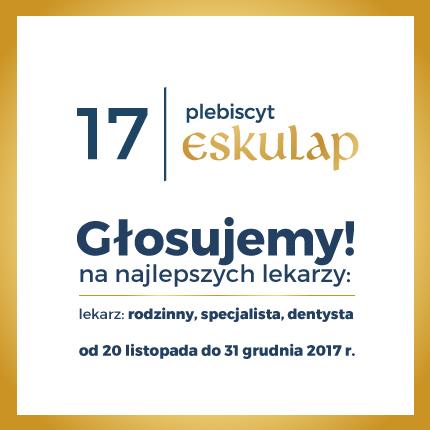 Zagłosuj na swojego ulubionego lekarza – Plebiscyt Eskulap roku 2017