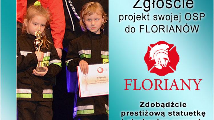 Prestiżowa statuetkai atrakcyjne nagrody dla strażaków-ochotnikóww II Edycji Ogólnopolskiego Konkursu FLORIANY 2018