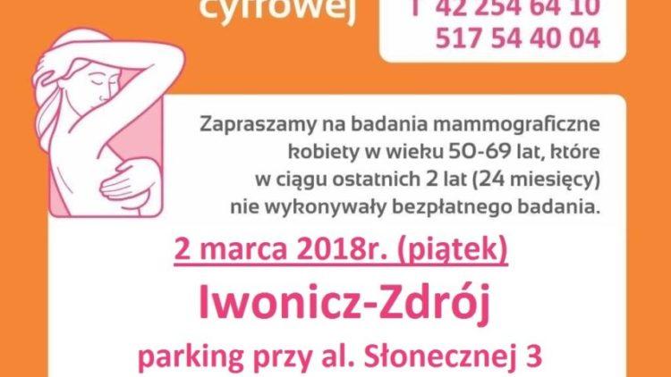 Bezpłatna mammografia w Iwoniczu-Zdroju