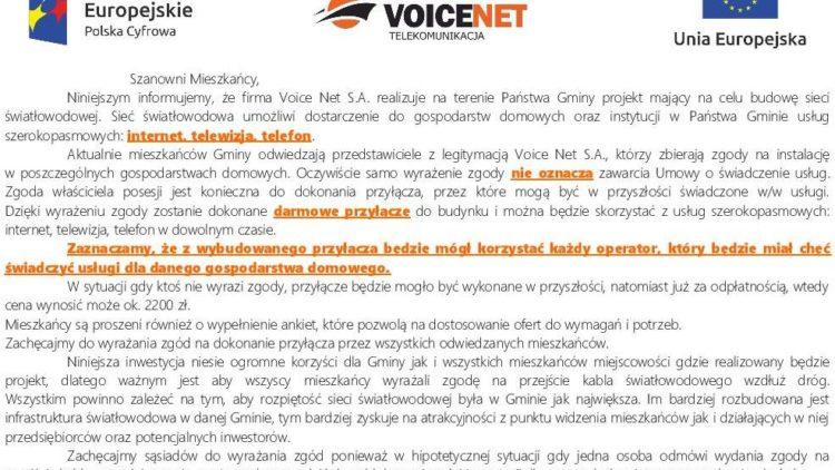 Budowa sieci światłowodowej na terenie Gminy Iwonicz-Zdrój