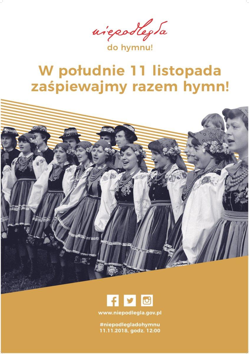 """,,Niepodległa do Hymnu"""" -włącz się w ogólnopolskie śpiewanie 11 listopada"""