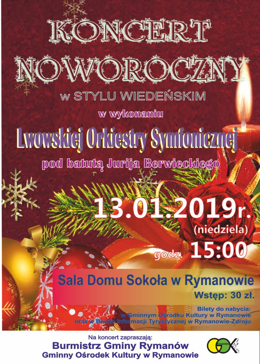 Koncert noworoczny w Rymanowie