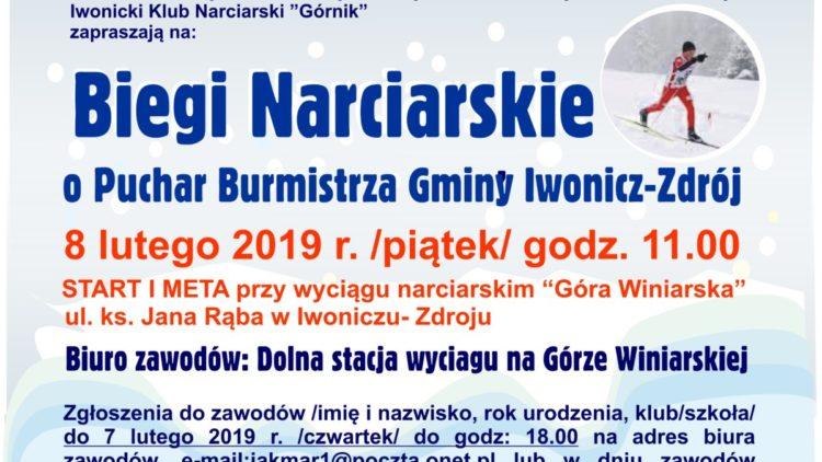 Zapowiedź zawodóww biegach narciarskich o puchar Burmistrza Gminy Iwonicz-Zdrój