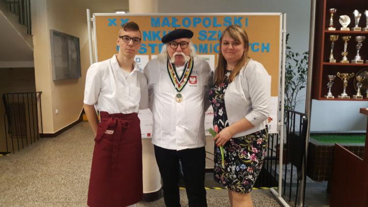 Znakomity występ Kacpra Ciupaka  ucznia Zespołu Szkół przy OSiW OHP w Iwoniczu  w XX Małopolskim Konkursie  Szkół Gastronomicznych  w Krakowie