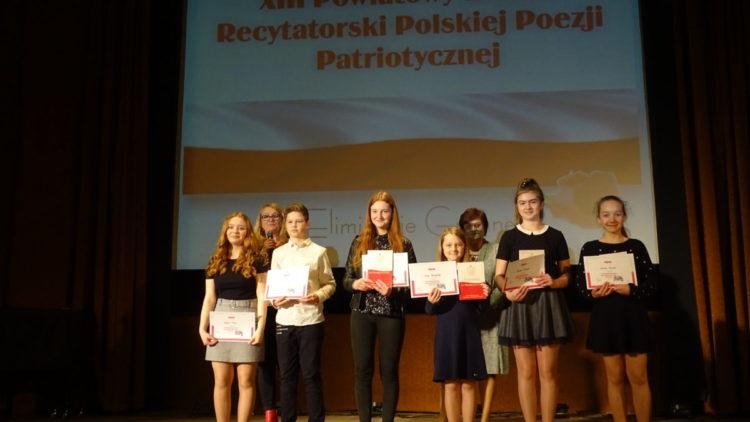 Gminne eliminacje XIII Powiatowego Konkursu Recytatorskiego Polskiej Poezji Patriotycznej