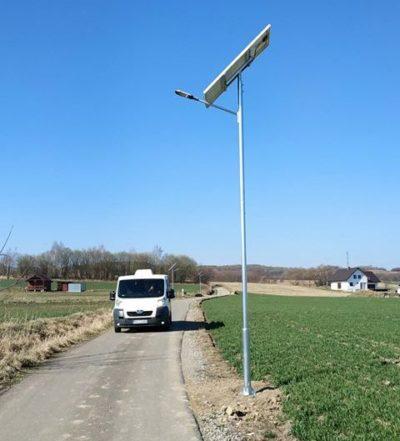 Nowe lampy uliczne – solarne w naszej gminie