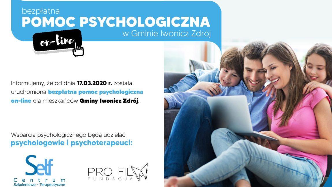 Bezpłatna pomoc psychologiczna dla mieszkańców Iwonicza-Zdroju