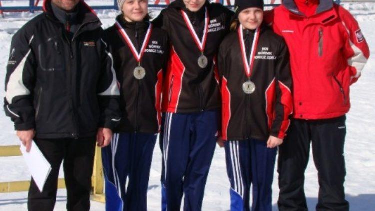 Srebro sztafety biathlonistek