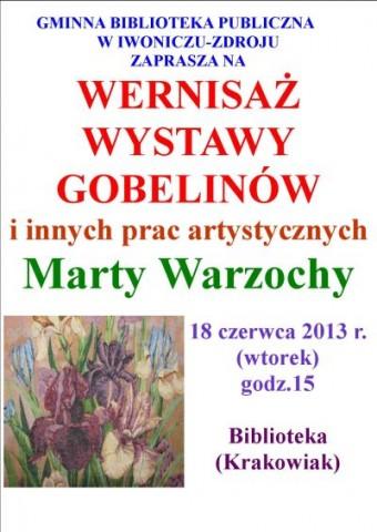 Wystawa gobelinów – Pani  Marty Warzochy