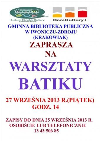Warsztaty  Batiku