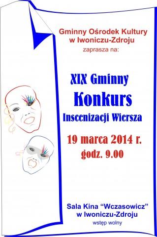 XIX Gminny Konkurs Inscenizacji Wiersza