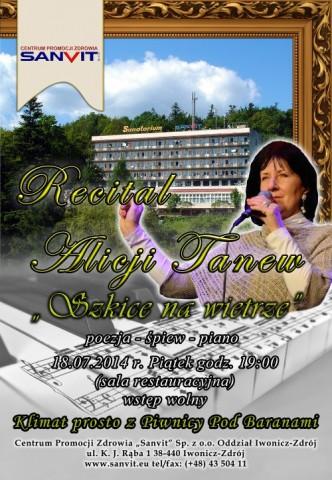 """Recital Alicji Tanew w  Centrum Promocji Zdrowia """"Sanvit"""""""