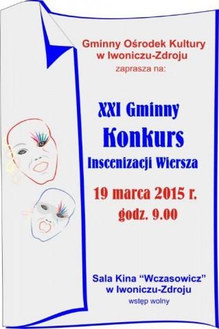 XXI Gminny Konkurs Inscenizacji Wiersza