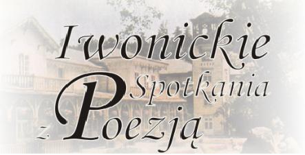 """Zapraszamy na """"Iwonickie spotkania z poezją"""" – 19 września – kino Wczasowicz godz.18.00"""