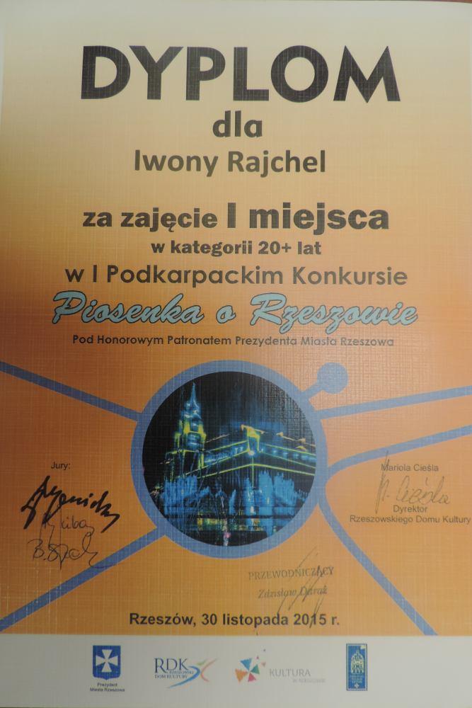 Artystyczny sukces Iwony Rajchel