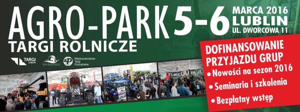 Zaproszenie na Targi Rolnicze AGRO-PARK 2016