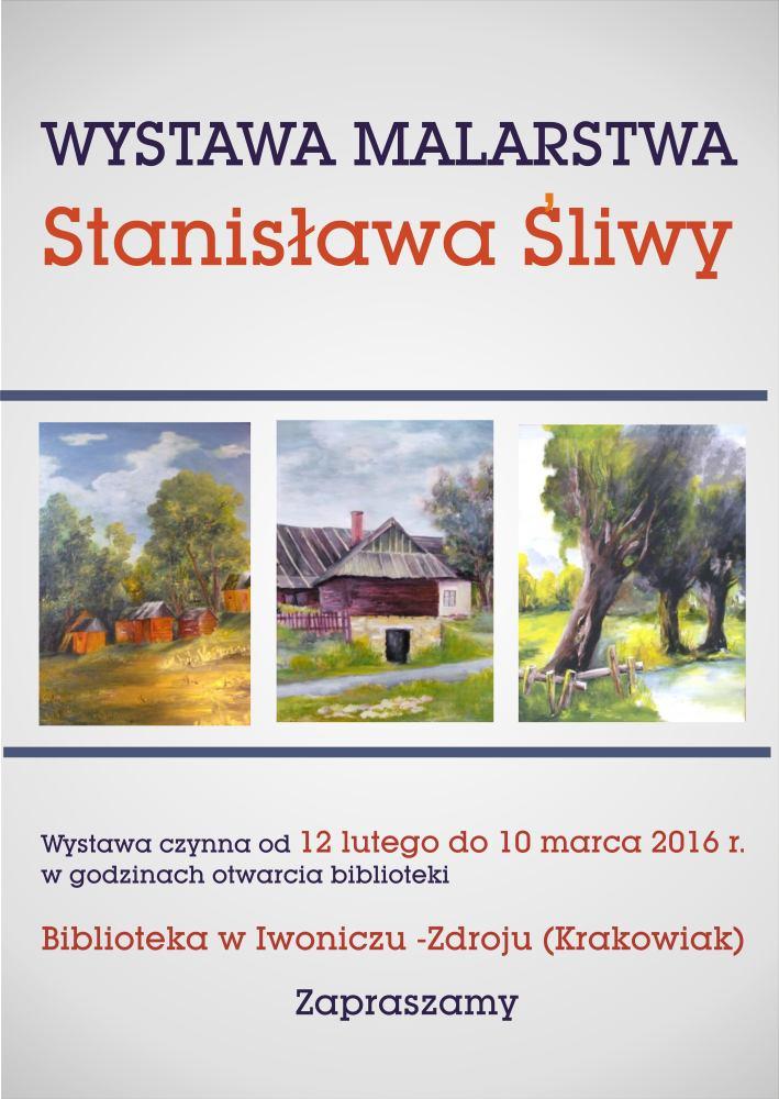 plakat biblioteka malarstwo Śliwy