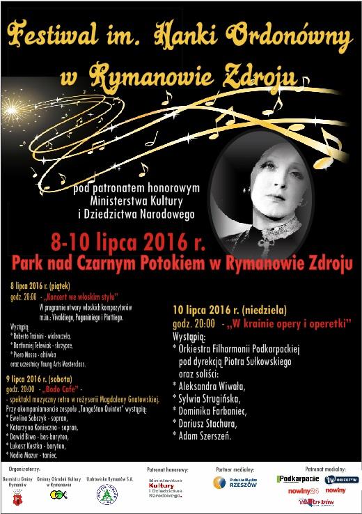 Już dziś zaczyna się wyjątkowy muzyczny Festiwal im. HANKI ORDONÓWNY w Rymanowie Zdroju