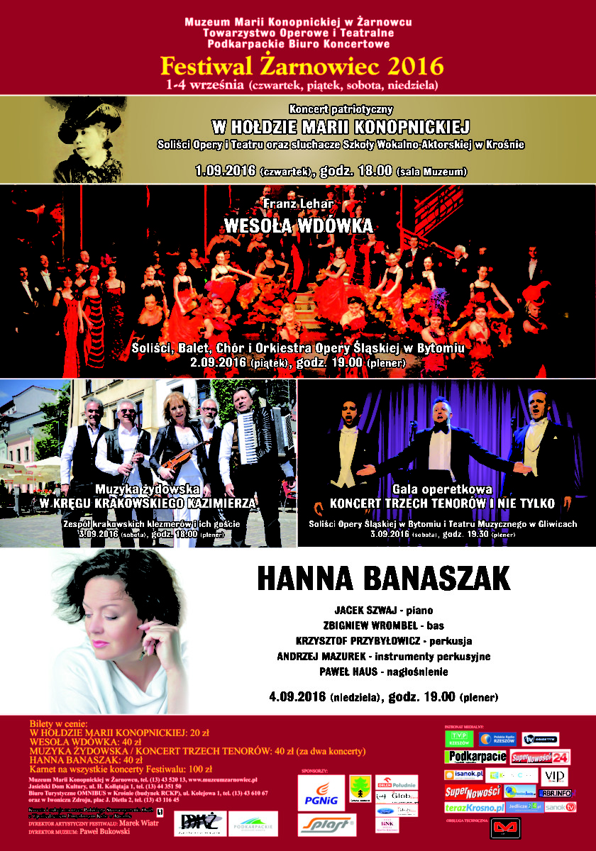 Zaproszenie na Festiwal do Żarnowca 2016