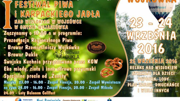 I Festiwal Piwa i Karpackiego Jadła nad Wisłokiem w Wojkówce
