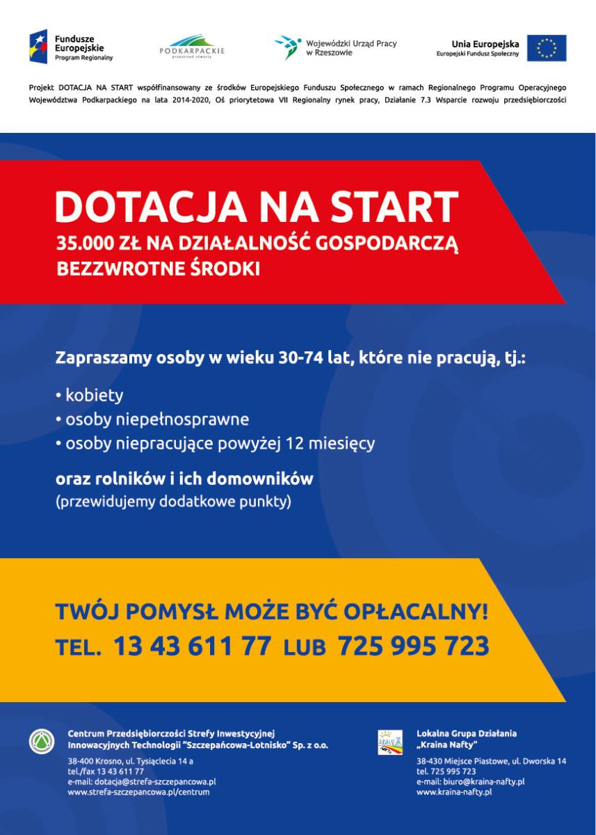 Rekrutacja do projektu DOTACJA NA START