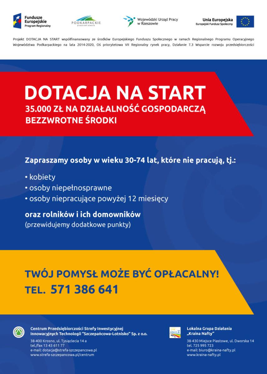 Dotacja na start na działalność gospodarczą