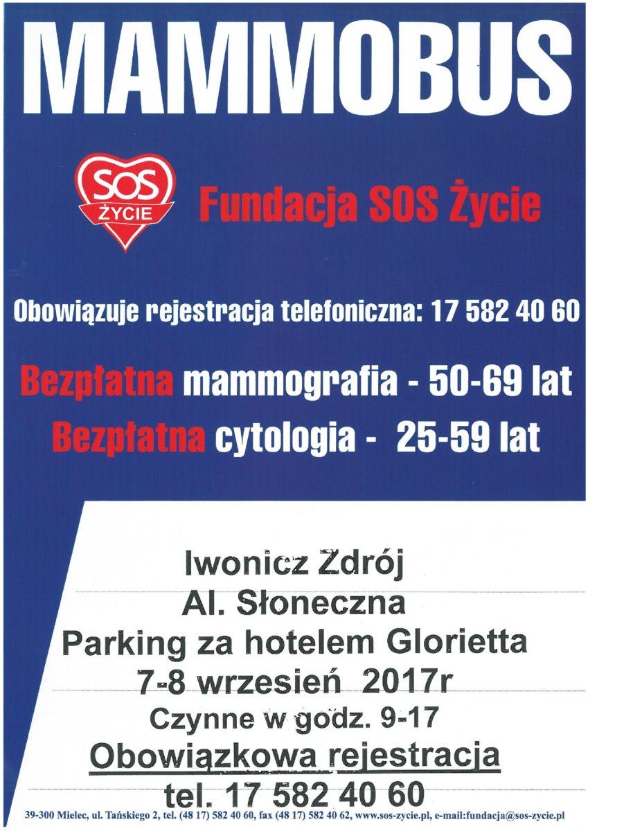 Mammobus 7-8 września br. Iwonicz-Zdrój