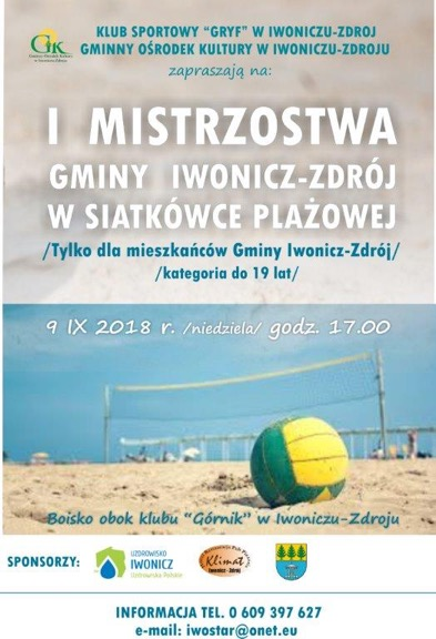 I Mistrzostwa Gminy Iwonicz-Zdrój w siatkówce plażowej