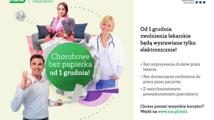 """""""Chorobowe bez papierka"""" – elektroniczne zwolnienia lekarskie już od grudnia"""