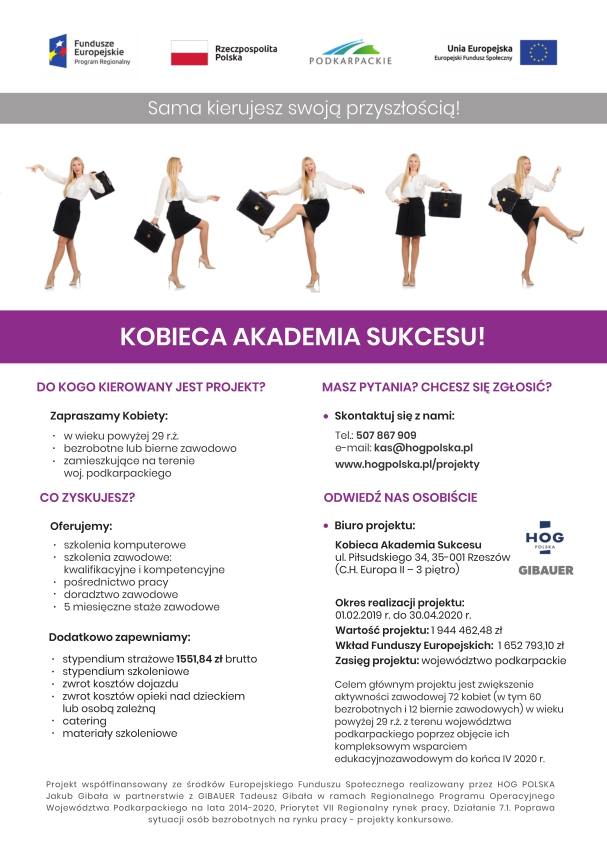 Rekrutacja do projektu Kobieca Akademia Sukcesu