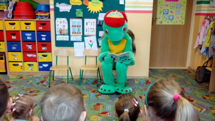 Franklin w przedszkolu.