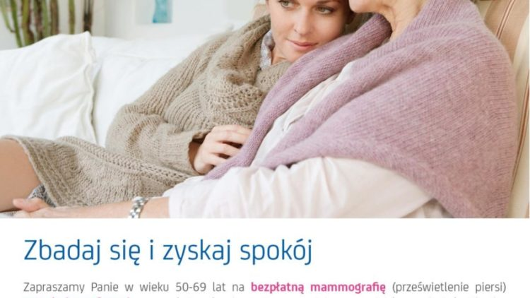 Bezpłatne badania mammograficzne dla kobiet w wieku 50-69 lat w kwietniu – Iwonicz-Zdrój