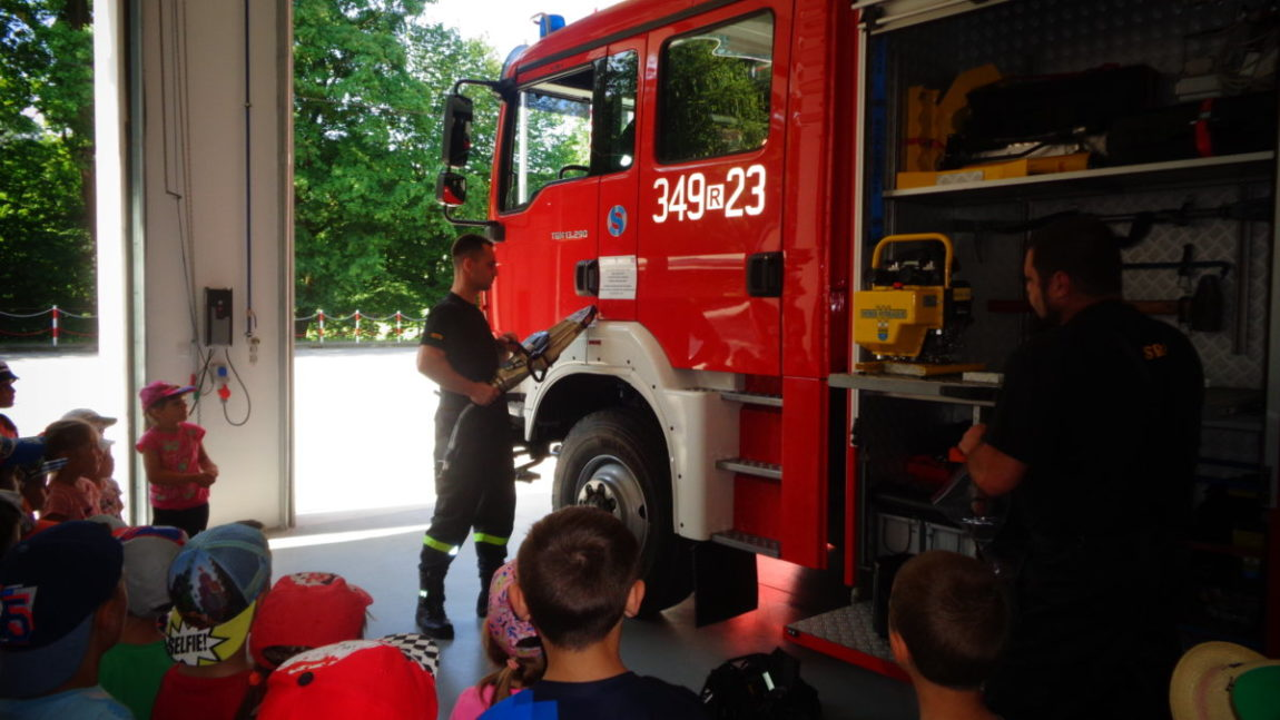 Wizyta w remizie strażackiej.