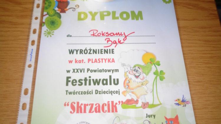 """Festiwal Twórczości Dziecięcej """"Skrzacik""""."""