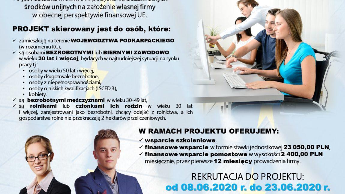 """ROZPOCZĘCIE REKRUTACJI DO PROJEKTU """"Siła Przedsiębiorczości"""" 7.3"""