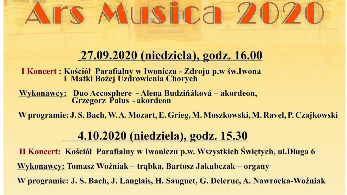 """XV Jubileuszowy Festiwal Muzyki Organowej i Kameralnej """"ARS MUSICA"""""""